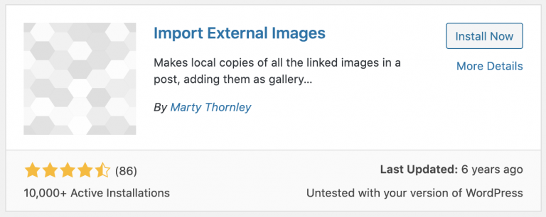 import external images