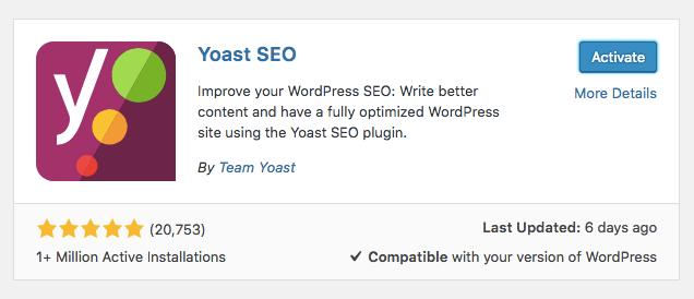 instalar yoast seo